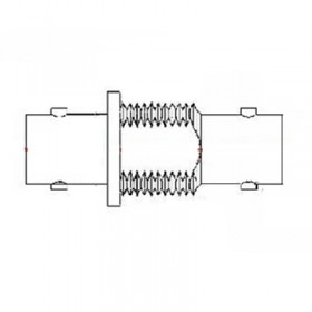XBD-1015-NGAB - BNC Bulkhead Socket to Socket Adaptor