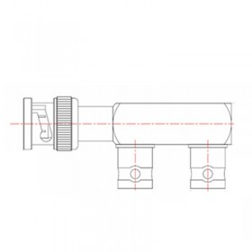 XBD -1037-NGAW - BNC F Junction Adaptor