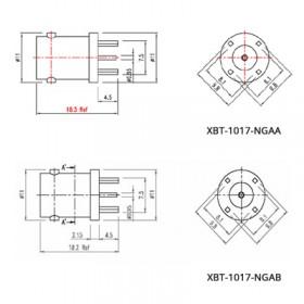 XBT-1017-NGXX - Top Entry Mounted BNC Socket