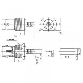 XBT-1071-NGBA - BNC Bulkhead Cable Mounted Socket