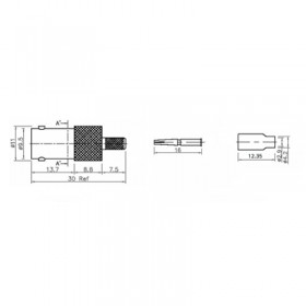 XBT-1008-NGAF - BNC Free Cable Socket
