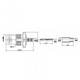 XBT-1014-SSAF - BNC bulkhead Socket