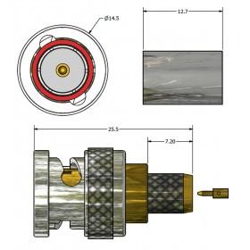 XBT-1068-BGXX - BNC Plug for 12G Applications (Professional Version)
