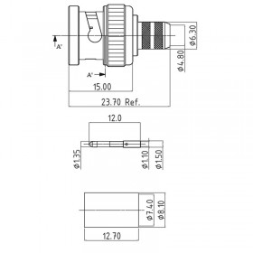 XBT-1068-NGXX - BNC Plug for 12G Applications (Standard Version)