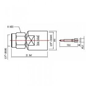 Straight SMA Cable Mounted Plug