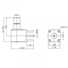 Right Angle PCB Mounted SMB Socket