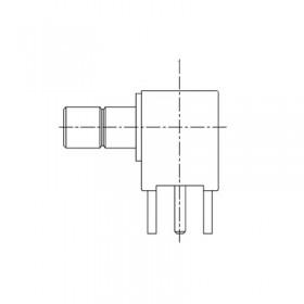 XDT-6301-GGAW - Right Angle PCB Mounted SMB Socket