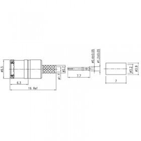 XDT-6303-GGAF - Cable Mounted SMB Plug