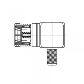 XDT-6304-GGAF - Right Angle Cable Mounted SMB Plug
