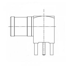 XDT-6311-GGAY - Right Angle PCB Mounted SMB Plug