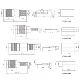 XGT-8000-NGXX - 1.0 / 2.3 Free Cable Plug