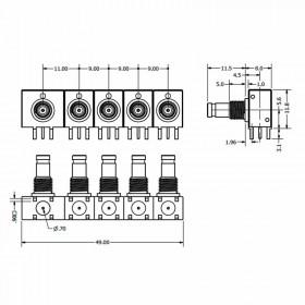 XGT-RXXX-XXXX - Multi-Port Connector System (Right Angled)