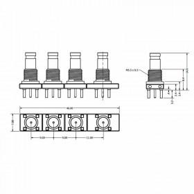 XGT-SXXX-XXXX - Multi-Port Connector System (Top Entry - Straight)