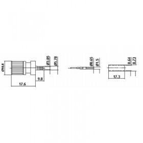 XHT-9001-NGAB - DIN 1.6 / 5.6 Cable Mounted Plug