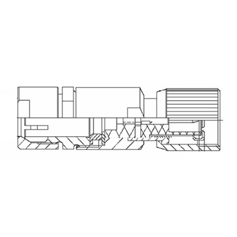 din 1 6    5 6 cable mounted plug