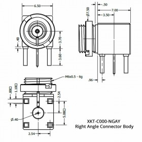 Right Angle Connector Body for Changeable Interface Connector Systemⓟ
