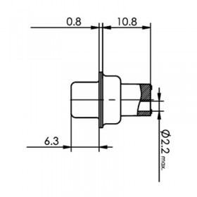 Standard D Subminiature Connector - Crimp Housings