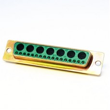 Mixed Layout D Subminiature Solder Bucket Connector Shell