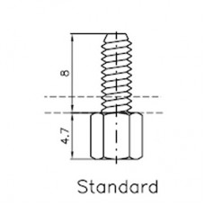 Lock Nut Stud (8mm 4-40 UNC)