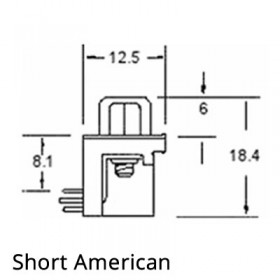 Standard D Subminiature Connector - American and Euro Spacings