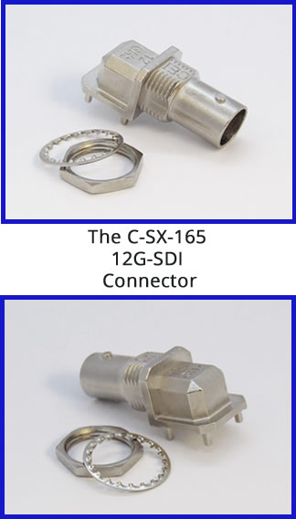 C-SX-165 - 12G-SDI Connector